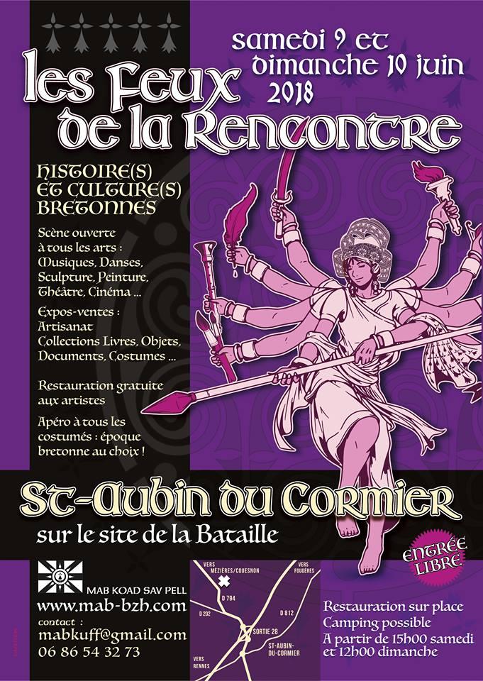 live: 9 juin 2018: Les Feux de la Rencontre, St-Aubin du Cormier (35)